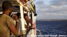 Italien Lampedusa Migranten auf Rettungsschiff Open Arms