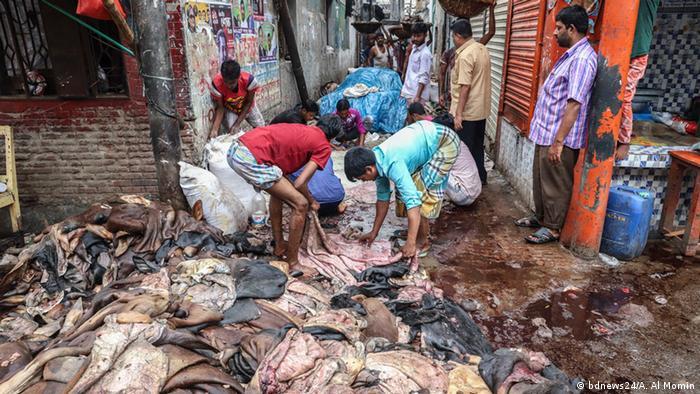 Radionica za štavljenje kože u Bangladešu