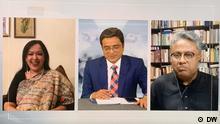 Screenshot DW Talkshow mit Khaled Muhiuddin