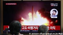 Südkorea Passanten verfolgen erneuten Raketentest von Nordkorea