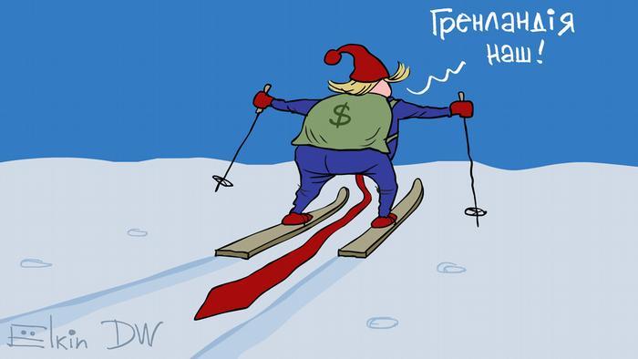 Karikatur von Sergey Elkin Trump will Grönland kaufen