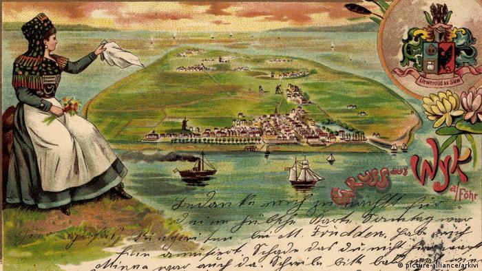 Остров Фёр на почтовой открытке начала прошлого века