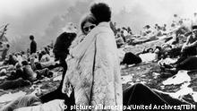 Beim Woodstock Festival, USA 1960er Jahre. at the Woodstock festival, USA 1960s. | Verwendung weltweit