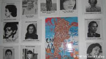 Fotos von Verschwundenen aus der Zeit der Militärdiktatur (1976 - 1983) (Foto: DW/V. Eglau)