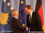 Në foto  ministri i Jashtëm i Kosovës, Skender Hyseni me shefin e diplomacisë  gjermane, Guido Westerwelle