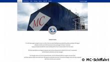 Screenshot Website MC-Schiffahrt