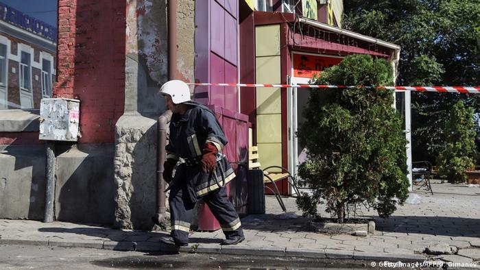 Пожежник в Одесі (архівне фото)