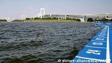 Odaiba Marine Park in Tokyo, the venue for the 2020 Tokyo Olympic and Paralympic triathlon (picture-alliance/dpa/MAXPPP)