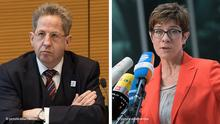 CDU party boss Annegret Kramp-Karrenbauer and former German spy chief Hans-Georg Maassen