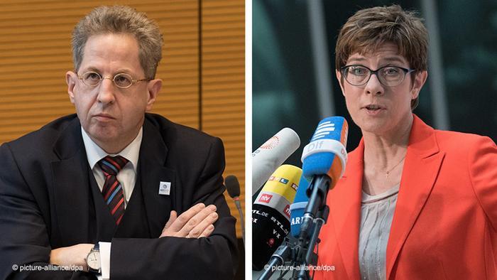 CDU party boss Annegret Kramp-Karrenbauer and former German spy chief Hans-Georg Maassen