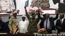 Sudan Khartum Machtabgabe Militär Vertragsunterzeichnung