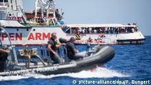 Italien Rettungsschiff Open Arms vor Lampedusa