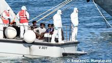 Italien Lampedusa | Rettungsschiff Open Arms | Ankunft Minderjährige