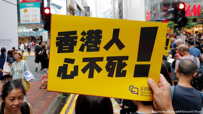 Hong Kong protesters to form a 'Baltic chain' across the city