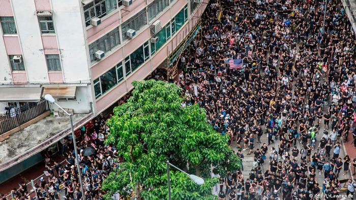 Hongkong Victoria Park Demonstration und Proteste (AFP/I. Lawrence)