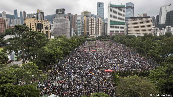 Hongkong Victoria Park Demonstration und Proteste