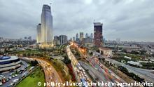 modernes Geschaeftszentrum in Levent, Tuerkei, Istanbul | Modern Business District in Levent, Turkey, Istanbul | Verwendung weltweit
