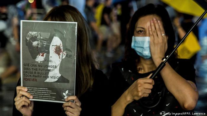 Hongkong Protest gegen China & Auslieferungsgesetz (Getty Images/AFP/I. Lawrence)