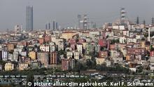 Moderner Stadtteil Sütlüce, Blick vom Café Pierre Loti, Eyüp, Istanbul, Türkei, Asien | Verwendung weltweit, Keine Weitergabe an Wiederverkäufer.
