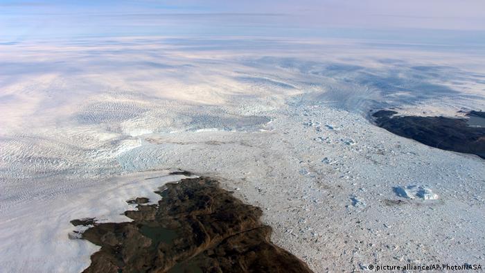 Paisagem branca de gelo