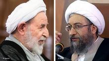 Bildkombo Mohammad Yazdi und Sadegh Amoli Larijani