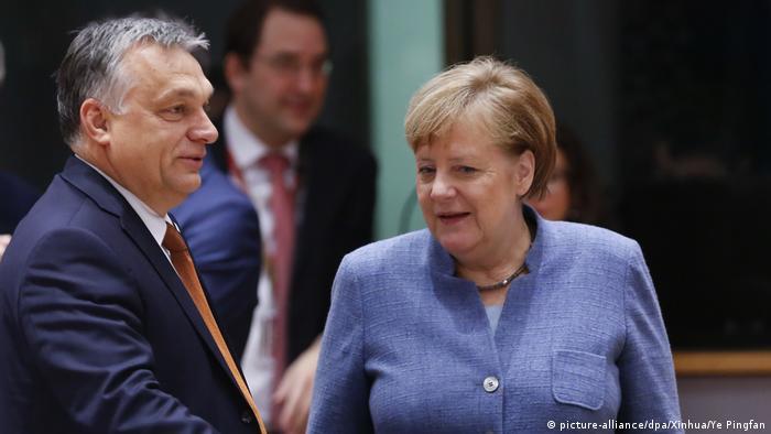 Brüssel Angela Merkel und Viktor Orban