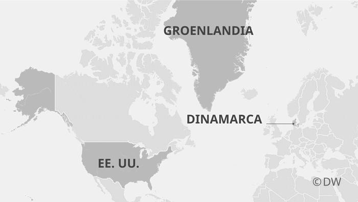 Infografik Karte USA-Grönland-Dänemank ES