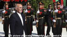 Afghanistan Kabul Feier Unabhöngigkeitstag Präsident Aschraf Ghani (picture-alliance/AP Photo/Afghan Presidential Palace)