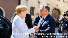Ungarn Angela Merkel und Viktor Orban (picture-alliance/AP/MTI/Hungarian Prime Minister's Press Office/B. Szecsodi)