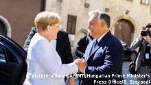 Ungarn Angela Merkel und Viktor Orban