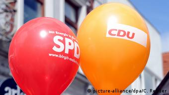 Воздушные шары с надписями ХДС и СДПГ