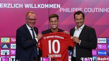 Fußball Spieler Philippe Coutinho bei Bayern München
