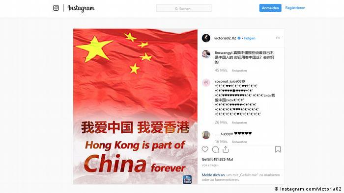 Instagram-Post von Victoria Song