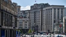 The building of the State Duma of the Russian Federation in Moscow | Verwendung weltweit, Keine Weitergabe an Wiederverkäufer.