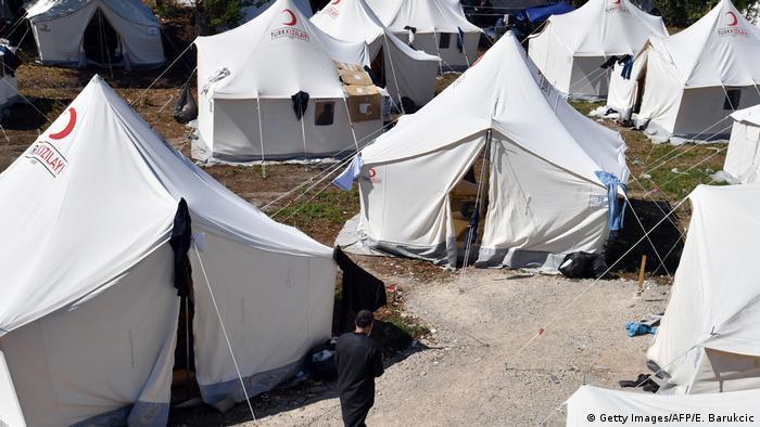 Šatori u izbjegličkom kampu Vučjak
