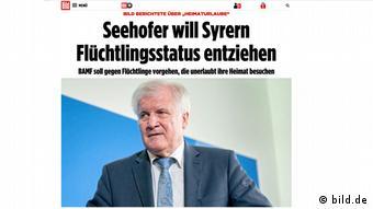 Bild-Zeitung berichtet über Seehofer