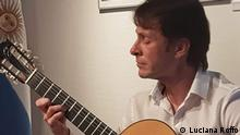 Description: Cazeneuve, who believes that the limits of the guitar's capabilities in classical music are still a mystery, offers concerts in Europe and Argentina every year. Author: Luciana Roffo Rights: Granted by Damián Cazeneuve for Deutsche Welle