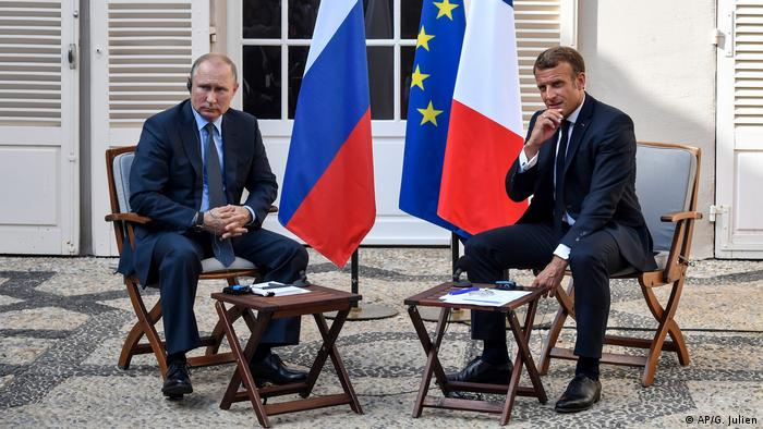 Vladimir Putin und Emmanuel Macron