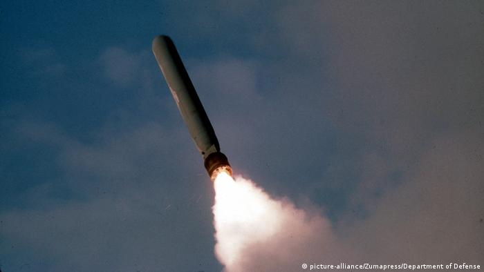 Tomahawk cruise missile in flight (picture-alliance/Zumapress/Department of Defense)