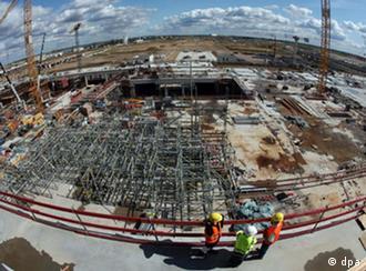 View onto the BBI construction site