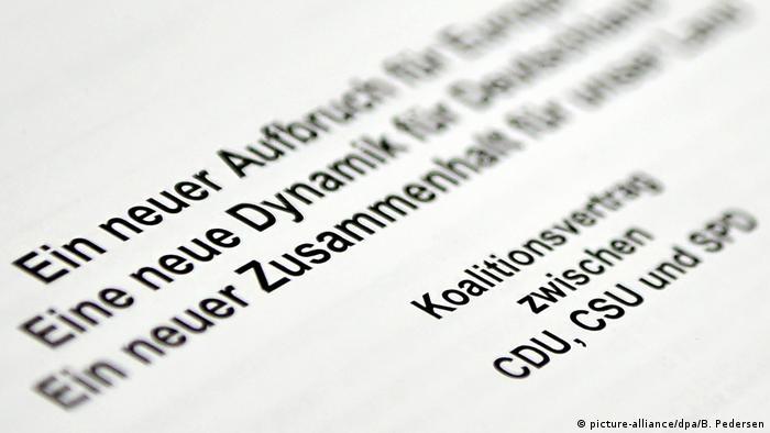 Koalitionsverhandlungen von Union und SPD (picture-alliance/dpa/B. Pedersen)