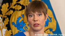 Kersti Kaljulaid | Estlands Staatspräsidentin (Getty Images/AFP/R. Pajula)