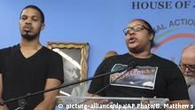 USA | Eric Garner Jr und Schwester Emerald Garner | New York (picture-alliance/dpa/AP Photo/B. Matthews)