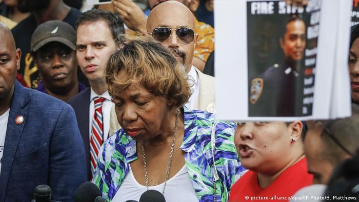 Gwen Carr, mother of Eric Garner, in New York