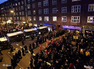 Protestas en Copenhague