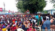 Para-Teachers in a sit in protest demanding employment benefits equal to regular teachers DW, Sirsho Bandopadhyay, August 2019 in Kalyani, Westbengalen/Indien