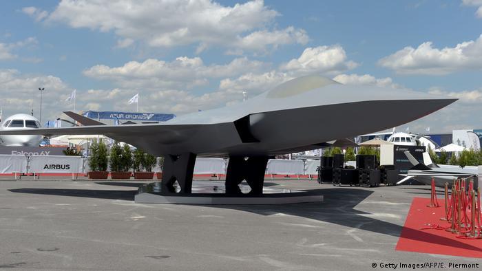 Model des Future Combat Air Systems (FCAS) (Getty Images/AFP/E. Piermont)