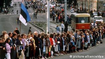 Demonstration der baltischen Sowjetrepubliken für Unabhängigkeit