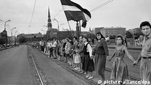 Menschenkette durch die baltischen Republiken 1989