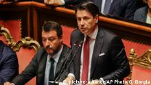 Italien Premierminister Giuseppe Conte im Oberhaus